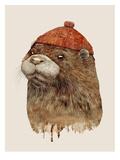 River Otter Reproduction d'art par Animal Crew