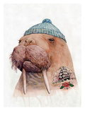 Tattooed Walrus Reproduction d'art par Animal Crew