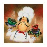 Three Bowl Chef Reproduction d'art par Vickie Wade