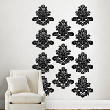Martha Stewart Living Bold Damask Flourishes Black Transfer