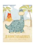 Brontosaure Reproduction d'art par Jennifer Pugh