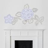 Martha Stewart Living Floral Block Print Lavender