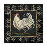 Black and White Rooster II Reproduction d'art par Jo Moulton