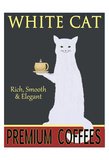 White Cat Premium Coffees Giclée par Ken Bailey