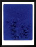 Blaues Schwammrelief (Relief Éponge Bleu: RE19)  1958
