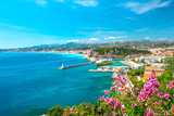 Nice City  French Riviera  Mediterranean Sea
