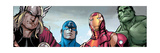 Avengers Assemble Style Guide: Thor, Captain America, Iron Man, Hulk Reproduction d'art