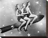 Three Women Sitting on Rocket