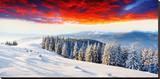 Sunset Winter Mountain Landsc