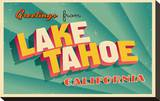 Vintage Card - Lake Tahoe CA