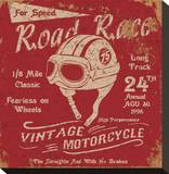 Vintage Motorbike Race Label
