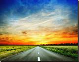 Long Country Road to Sunset