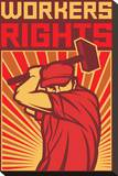 Stylized Workers Rights Poster
