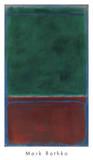 No. 7 (Green and Maroon), 1953 Reproduction d'art par Mark Rothko