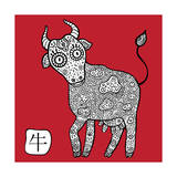 Chinese Zodiac Animal Astrological Sign Cow