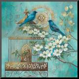 Blue Birds and Dogwood