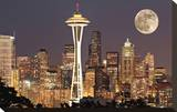 Lights on in Seattle Full Moon