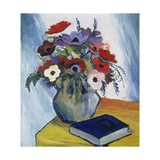 Still-Life with Anemones and Blue Book  1911