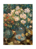 White Roses in a Blue Jar  1917
