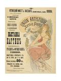 Plakat Fuer Eine Ausstellung Russischer Und Franzoesischer Kuenstler  1898