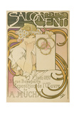 Poster Advertising the 'Salon Des Cent' Mucha Exhibition  1897