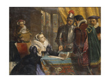 The Forced Abdication of Mary  Queen of Scots (1542- 1587)  at Lochleven Castle  25th July 1567