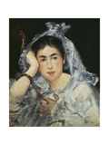 Marguerite De Conflans Wearing a Hood  1873