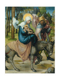 "The Flight to Egypt  from the Altar: ""The Virgin's Seven Agonies""  1495-96"