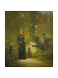 Newspaper Reader in the Garden (Or: Politikus in His Little Garden Having a Coffee)  Late 1840s