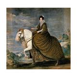 Equestrian Portrait of Elisabeth De France  Wife of Philip IV of Spain  1629-1635