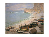 Beach with Boats at Etretat  1883