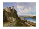 View of Oberwesel on the Rhine with Castle Ruin  1897