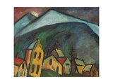 Mountain Landscape with Houses  1912