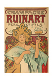"""Werbeplakat Fuer """"Champagne Ruinart"""" Paris  1897"""