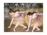 Dancers Bowing, 1885 Giclée par Edgar Degas