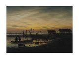 Coastal Landscape  Sunset  Um 1816-1818