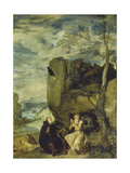 St  Anthony the Abbot and St  Paul the First Hermit  Ca 1642