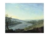 The River Elbe Near Blasewitz Beyond Dresden  C 1800