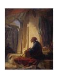 A Seated Turk in a Bazaar  1853