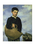Boy with a Basket and Dog  1860