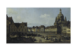 The Neumarkt in Dresden as Seen from the Moritz-Strasse  1749-51
