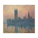 The Houses of Parliament  Sunset  1903