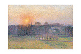Sunset over a Landscape with Trees  1892