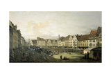 The Altmarkt in Dresden Seen from the Seegasse  c 1751