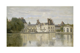 View of the Castle Fontainebleau