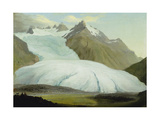 The Rhone Glacier Above Gletsch  1778