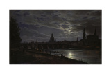 View of Dresden During Fullmoon  1839