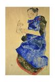 Maedchen Mit Blauer Schuerze  1912