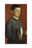 The Boy with the Quill (The Pupil  the Artist's Brother August) 1875