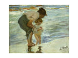 Mother and Child at the Beach  1908